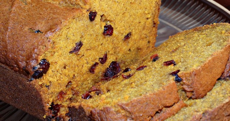 Pumpkin Spice Cranberry Bread