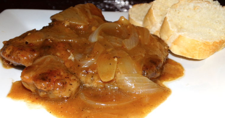 Smothered Pork Chops With Onions And Gravy Recipe