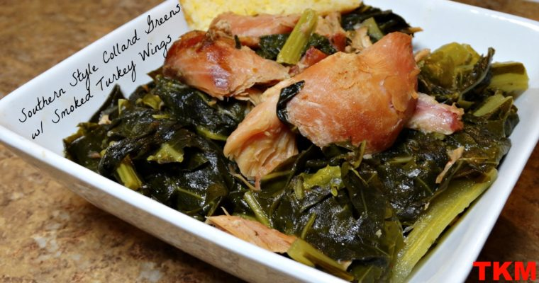 Southern Style Collard Greens With Smoked Turkey Wings
