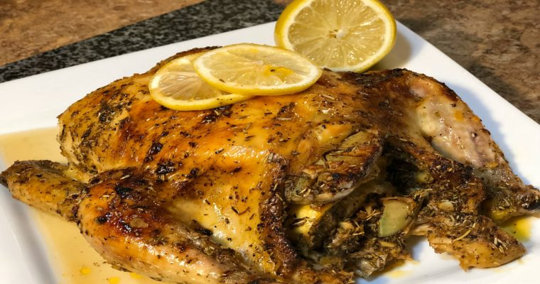 Lemon Garlic Rosemary Roast Chicken