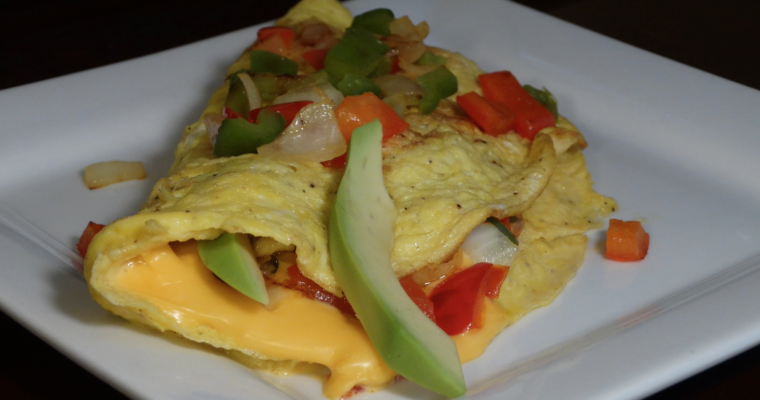 Egg Omelette With Ham And Cheese