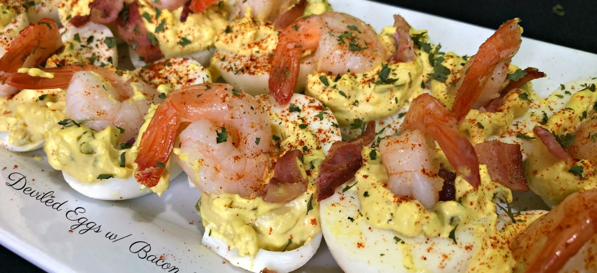 Deviled Eggs Bacon Shrimp