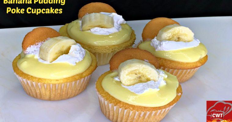 Banana Pudding Poke  Cupcake
