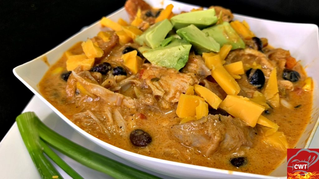 Turkey Enchilada Soup Recipe. Starting off with a rich homemade enchilada sauce. Perfectly seasoned shredded turkey, roast tomatoes, corn, beans, chili, etc. This soup consists of many depths of heartwarming flavors.