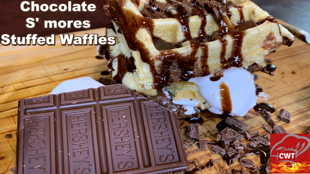 Chocolate S'mores Stuffed Waffles