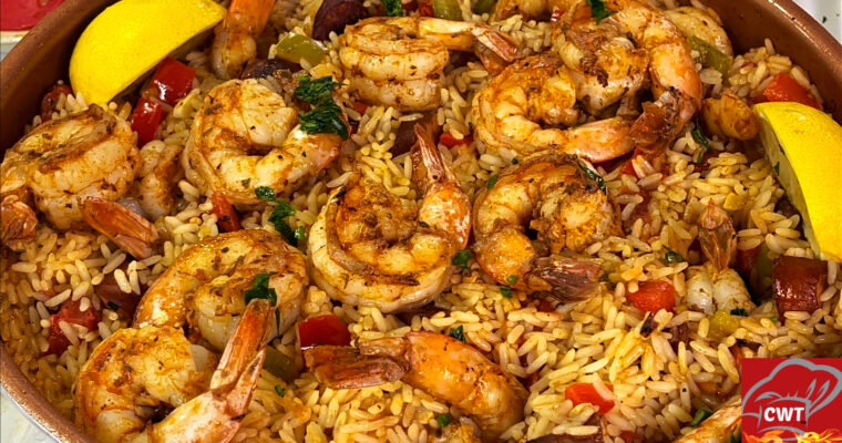 Shrimp Andouille Rice Skillet